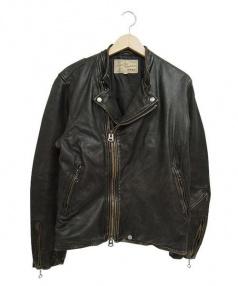 AVIREX(アヴィレックス)の古着「ヴィンテージカスタムライダースジャケット」|ブラック