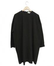 ENFOLD(エンフォルド)の古着「ブルクロスコクーンワンピース」|ブラック