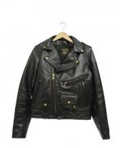 VANSON(バンソン)の古着「ダブルライダースジャケット」|ブラック