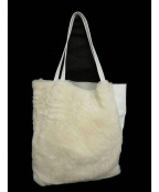 OWEN BARRY(オーエンバリー)の古着「ムートントートバッグ」|ホワイト