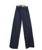 CHARLIE MAY(チャーリーメイ)の古着「デニムワイドパンツ」|インディゴ