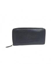 IL BISONTE(イルビゾンテ)の古着「レザー長財布」|ブラック