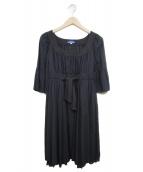 BURBERRY BLUE LABEL(バーバリーブルーレーベル)の古着「ブラウスワンピース」|ブラック