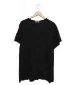 Yohji Yamamoto(ヨウジヤマモト)の古着「ロゴTシャツ」|ブラック