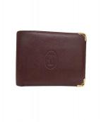 Cartier(カルティエ)の古着「2つ折り財布」|ブラウン
