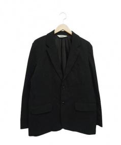 HELLOS EXTRAFINE(ハローズエクストラファイン)の古着「テーラードジャケット」 ブラック