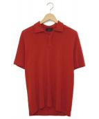 ZANONE(ザノーネ)の古着「アイスコットンハーフジップポロシャツ」|レッド