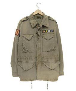 POLO RALPH LAUREN(ポロラルフローレン)の古着「ミリタリージャケット」|カーキ