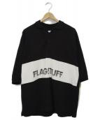 FLAGSTUFF(フラッグスタフ)の古着「オーバーサイズ半袖ポロシャツ」|ブラック