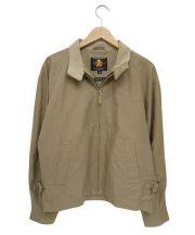 GB SPORTS(ジービースポーツ)の古着「スイングトップジャケット」 ベージュ