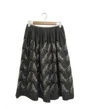 mina perhonen(ミナペルフォネン)の古着「フレアスカート」|グレー