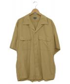 KENZO(ケンゾー)の古着「レーヨンオープンカラーシャツ」|ベージュ