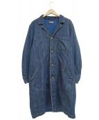 BLUE BLUE(ブルーブルー)の古着「デニムショップコート」 インディゴ