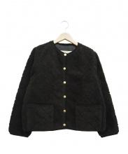 Traditional Weatherwear(トラディショナルウェザーウェア)の古着「ノーカラーフリースジャケット」|ブラック