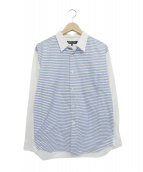 COMME des GARCONS HOMME DEUX(コムデギャルソンオムデュー)の古着「袖切替シャツ」|ブルー
