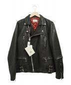 LHP(エルヘイチピ)の古着「シープスキンパディングダブルライダースジャケット」