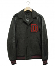 DIESEL(ディーゼル)の古着「ゴートレザー切替ウールジャケット」