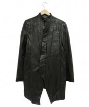 JULIUS(ユリウス)の古着「ラムレザースタンドカラーロングジャケット」