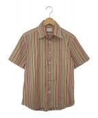 Paul Smith(ポールスミス)の古着「アーティストストライプ半袖コットンシャツ」|マルチカラー