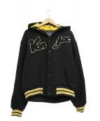 VAN JAC(ヴァンジャケット)の古着「フーデッドスタジャン」|ブラック