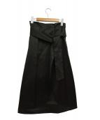 TOMORROW LAND collection(トゥモローランドコレクション)の古着「シャイニーツイルインタックフレアスカート」