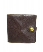 IL BISONTE(イルビゾンテ)の古着「レザー2つ折り財布」