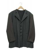 COMME des GARCONS HOMME(コムデギャルソンオム)の古着「袖切替5Bロングジャケット」|グレー