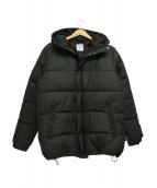 APPLEBUM(アップルバム)の古着「シンセティックレザー中綿ジャケット」 ブラック