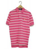 POLO RALPH LAUREN(ポロラルフローレン)の古着「半袖ポロシャツ」|ピンク