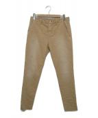 AGLINI(アリーニ)の古着「リペア加工パンツ」|ベージュ