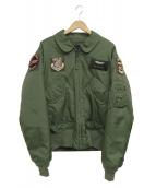 ALPHA(アルファ)の古着「CWU-45/Pワッペン付フライトジャケット」 オリーブ