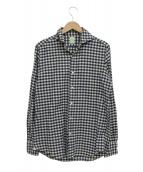 Finamore(フィナモレ)の古着「チェックシャツ」 ホワイト×ブルー