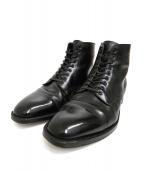 ALDEN(オールデン)の古着「ストレートチップブーツ」|ブラック