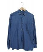 COMOLI(コモリ)の古着「ベタシャンコモリシャツ」 ブルー