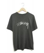 STUSSY(ステューシー)の古着「ストックロゴTシャツ」|グレー