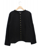 agnes b(アニエスベー)の古着「裏起毛プレッションカーディガン」|ブラック