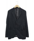 ESTNATION(エストネーション)の古着「ポリエステルナイロン2Bテーラードジャケット」|ネイビー