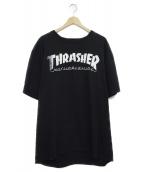 THRASHER×HUF(スラッシャー×ハフ)の古着「コラボプリントTシャツ」 ブラック