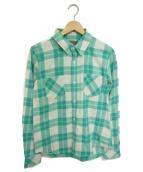 R.H.Vintage(ロンハーマン・ヴィンテージ)の古着「ネップ加工チェックシャツ」|グリーン
