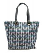 TOPKAPI(トプカピ)の古着「フレンチファブリックA4トートバッグ」|ブルー