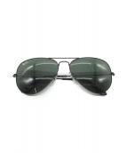 RAY-BAN(レイバン)の古着「アビエーターラージメタルサングラス」|ブラック