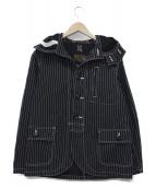 Pherrows(フェローズ)の古着「ガンナーズフーデッドブラックウォバッシュジャケット(パーカー」|ブラック