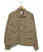 CAL O LINE×SMART CLOTHING STORE(キャルオーライン×スマートクロージングストア)の古着「25週記念別注ミリタリージャケット」|ベージュ