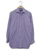 RALPH LAUREN PurpleLabel(ラルフローレンパープルラベル)の古着「長袖ドレスシャツ」 パープル