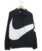 NIKE(ナイキ)の古着「ウーブンジャケット(ブルゾン)」 ブラック×ホワイト