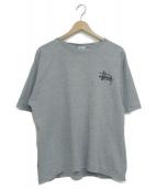 STUSSY(ステューシー)の古着「90sストックロゴプリントTシャツ」|グレー