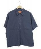 RED KAP×BEAUTY & YOUTH(レッドキャップ×ビューティーアンドユース)の古着「コラボ半袖ワークシャツ」|ブルー