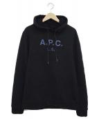 A.P.C(アーペーセー)の古着「プルオーバーパーカー」|ブラック