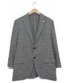 LARDINI(ラルディーニ)の古着「リネン混3Bテーラードジャケット」|グレー