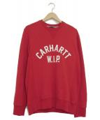 CARHARTT WIP(カーハートダブリューアイピー)の古着「クルーネックスウェット」|レッド